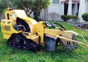 stump removal machine
